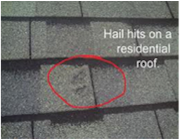Insurance Companiesu0027 Adjusters Paid For These Dimensional And 3 Tab Hail  Damaged Roofs. MHEC Has Seen Hail And Wind U2013 Cause Moderate To Extensive  Roof ...